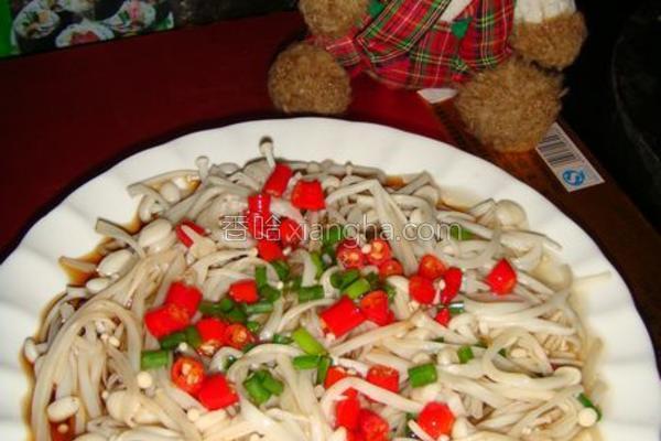 白灼金针菇的做法