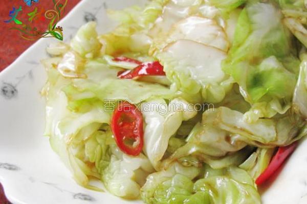 辣炒圆白菜的做法