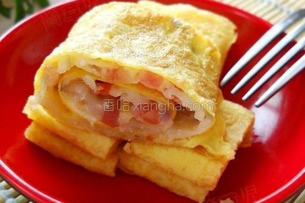 洋葱蛋卷饼的做法