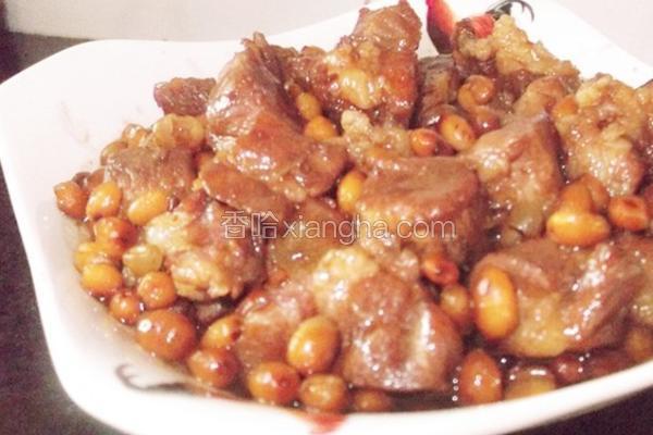 黄豆焖猪肉