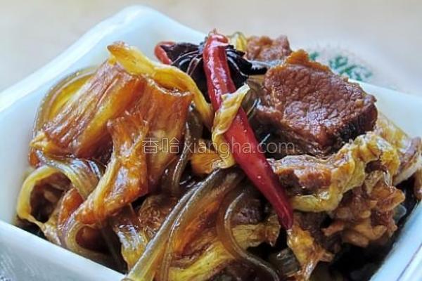 牛肉炖白菜粉条的做法
