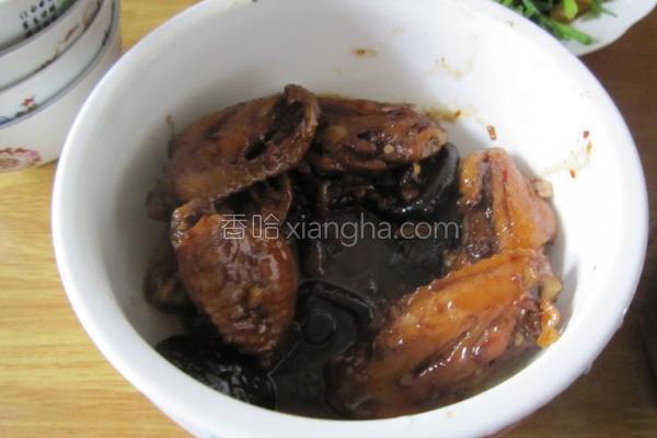 香菇啤酒红烧翅中的做法