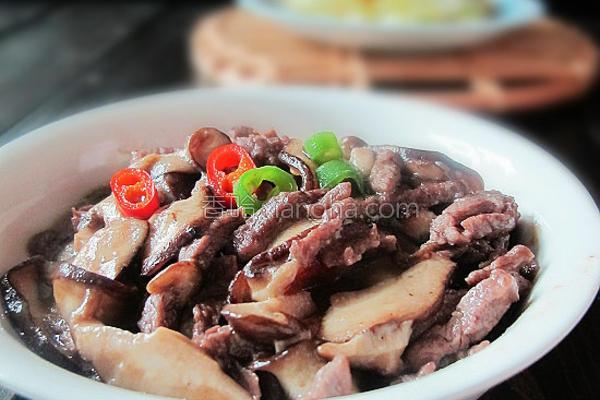 香菇炒牛肉的做法