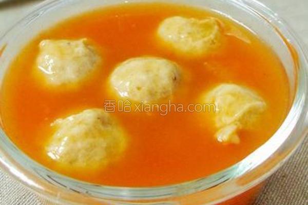 茄汁肉丸汤的做法