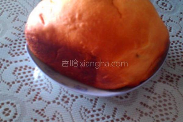 椰香葡萄干面包的做法
