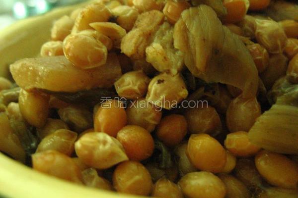 梅菜焖豆子的做法