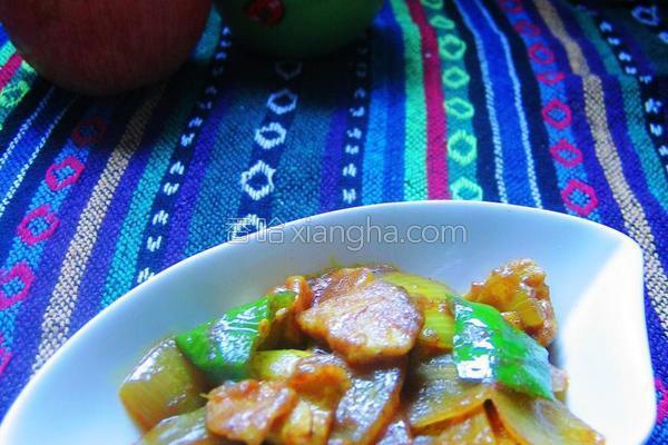 咖喱洋葱炒肉片的做法