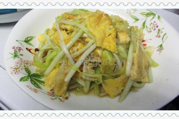 韭王炒蛋的做法