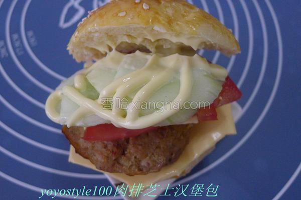 芝士肉汉堡包的做法