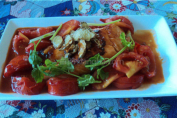 鲜茄三文鱼的做法