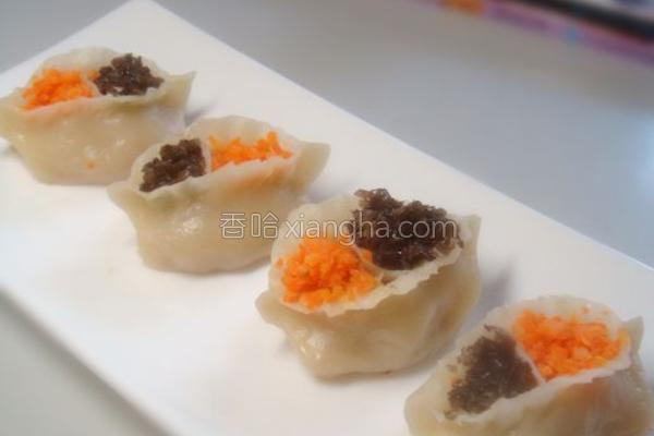凤眼蒸饺的做法