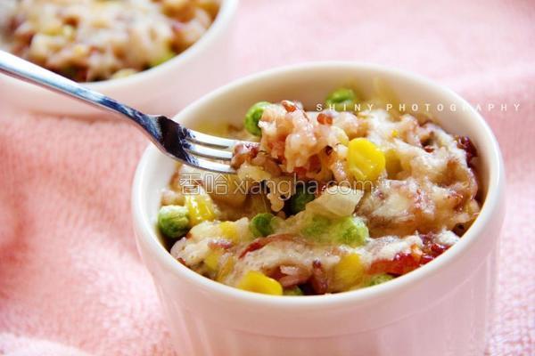 彩蔬焗饭的做法