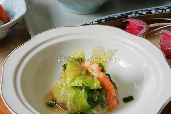 鲜虾白菜包的做法