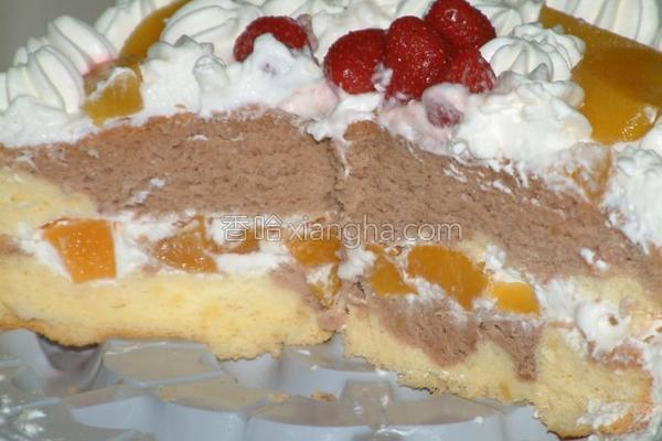 双色生日蛋糕的做法