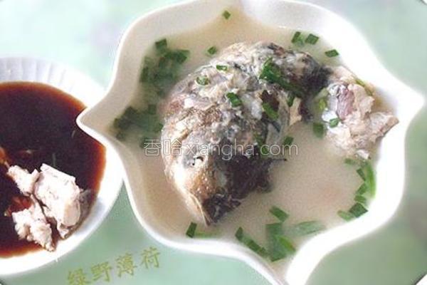 鲢鱼头尾汤的做法