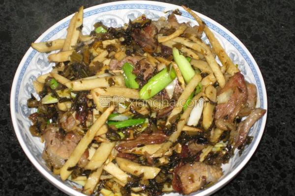 雪菜肉丝炒春笋的做法