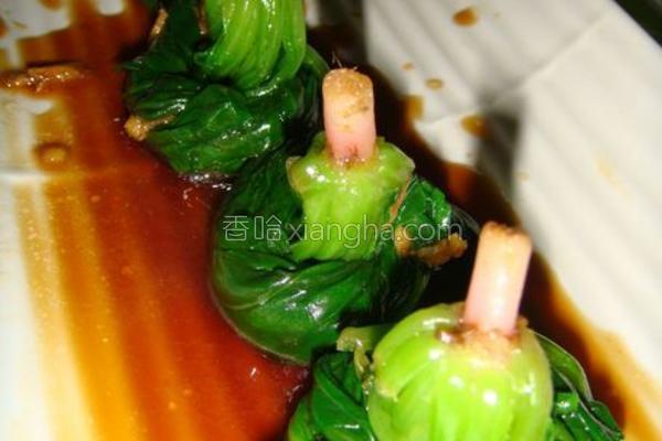 姜汁菠菜卷的做法