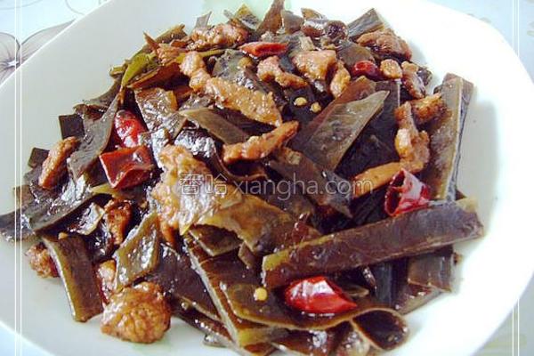 海带炒肉的做法