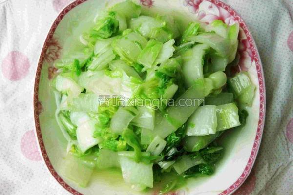 蒜香白菜的做法