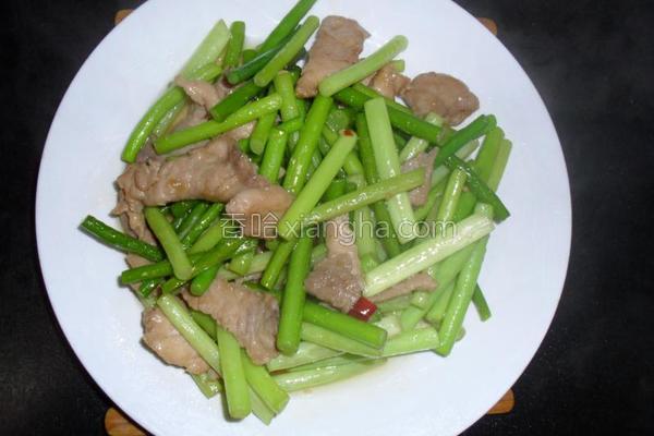 蒜苗肉片的做法