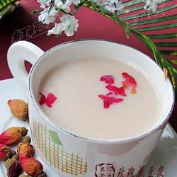 玫瑰花豆浆的做法[图]