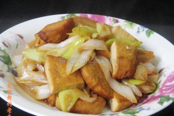大葱炒素鸡的做法