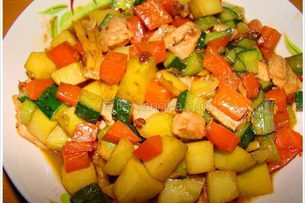 五彩蔬粒的做法