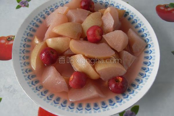 红果酥梨羹的做法