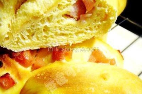 吉士花卷面包的做法