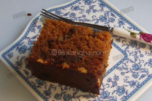 枣泥桂圆核桃蛋糕的做法