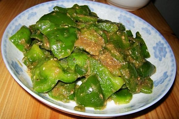 菇香青椒的做法
