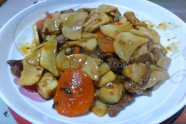 双菇肉片的做法