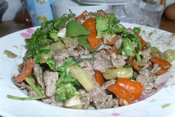 野山椒牛肉的做法