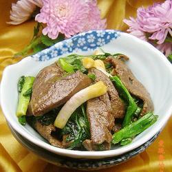 青蒜炒羊肝的做法[图]
