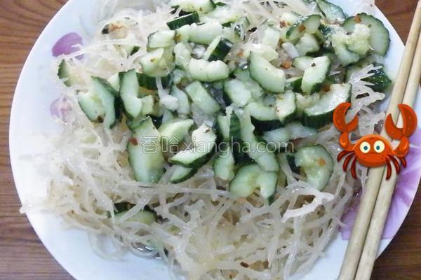 石花菜拌黄瓜的做法