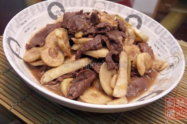苦笋炒牛肉的做法