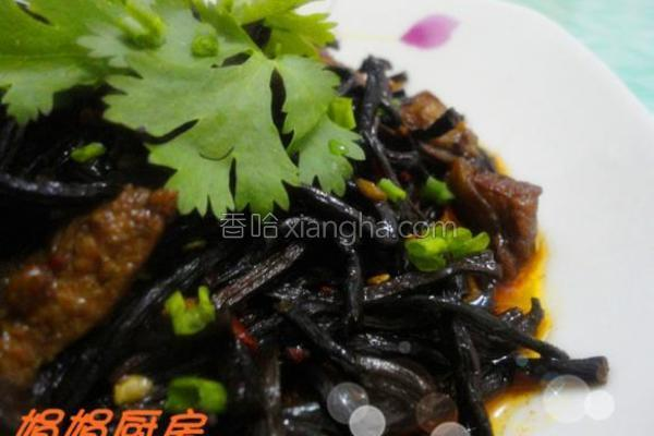 干蕨菜炖肉的做法