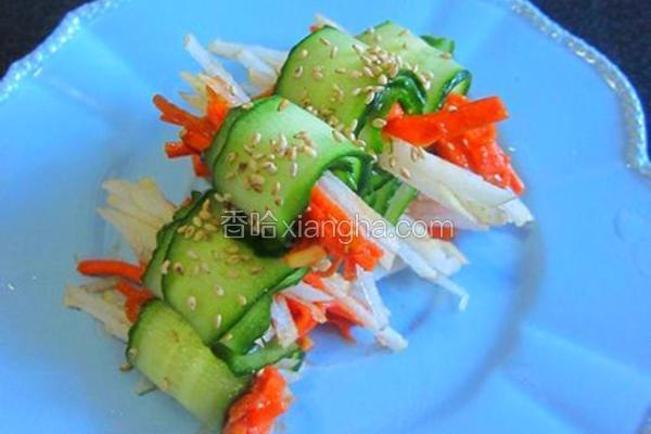 韩式辣酱黄瓜卷