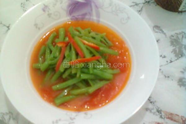 番茄酱烩豆角的做法