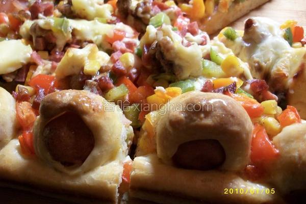 卷边披萨的做法