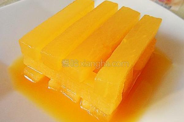 橙汁萝卜条的做法