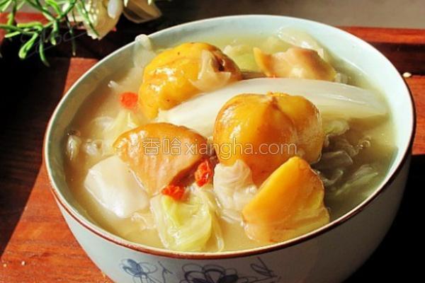 栗子烩白菜的做法
