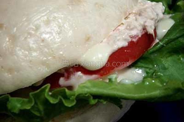 中式金枪鱼汉堡的做法
