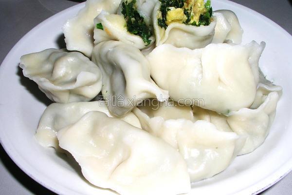 荠菜海米饺子的做法
