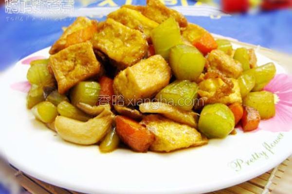 彩蔬烩豆腐的做法