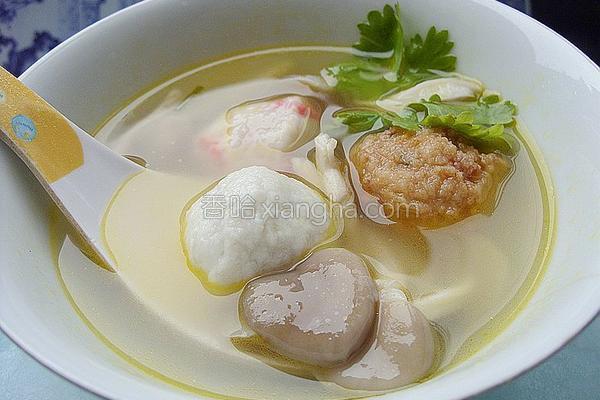 秀珍菇丸子汤的做法
