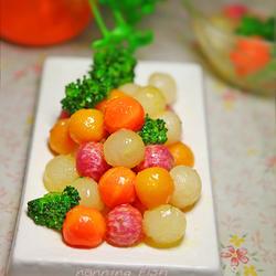 炒五色蔬丸的做法[图]