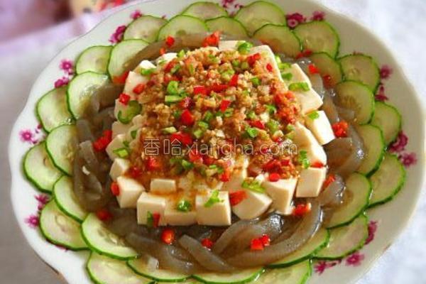 沙茶双色豆腐的做法