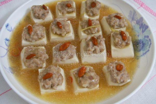 清蒸枸杞豆腐方的做法