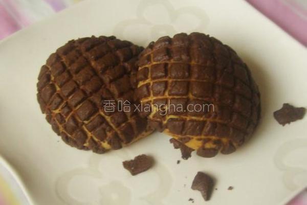 巧克力菠萝包的做法